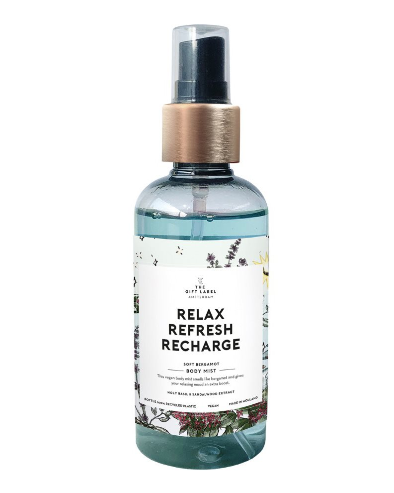 The Gift Label Body Mist Relax Refresh Recharge