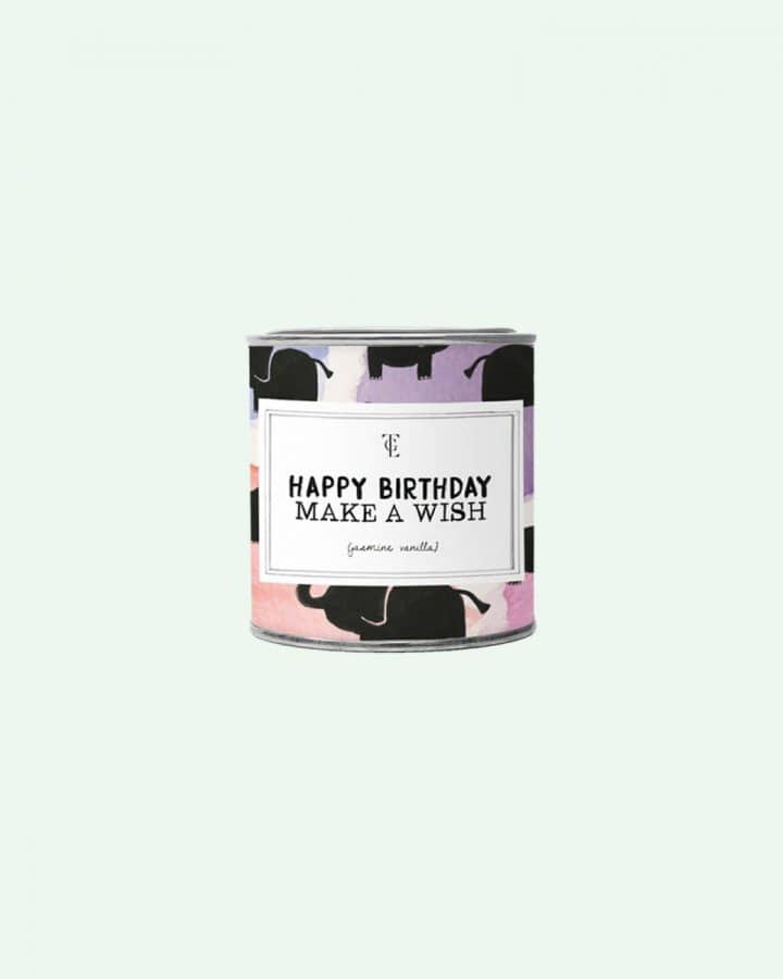 The Gift Label Happy Birthday Make a Wish Candletin 310gr
