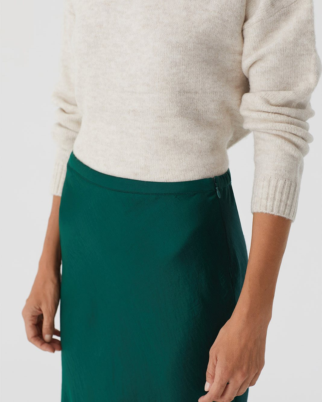 Nice Things Midi rok - Forest Green